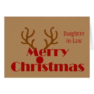 Christmas Daughter in-Law No Christmas Music Fun Card