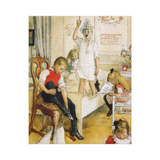 Christmas Day in the Nursery 1894 Canvas Print