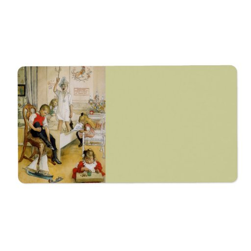 Christmas Day in the Nursery 1894 Shipping Label