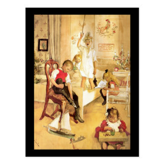 Christmas Day in the Nursery Postcard