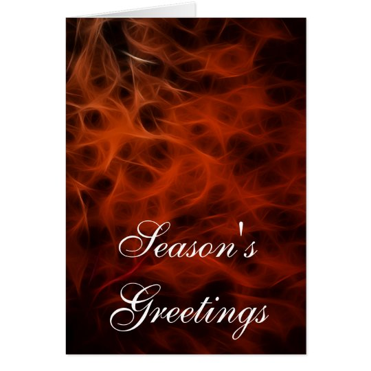 """Christmas Day"" Red Fractals Xmas Card"