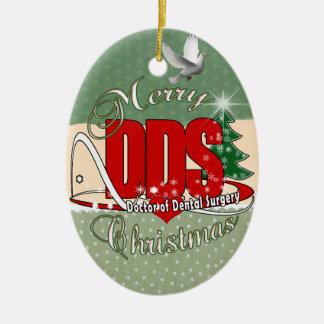 CHRISTMAS DDS Doctor of Dental Surgery Ceramic Ornament