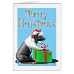 Christmas de duque grande tarjeta