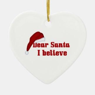 Christmas Dear Santa Ceramic Ornament