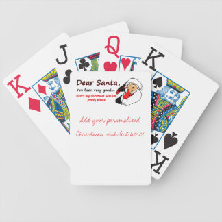 Christmas Dear Santa Personalized Bicycle® Playing Bicycle Playing Cards