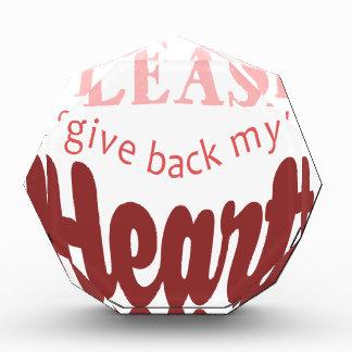 Christmas,Dear Santa, Please Give Back My Heart Award