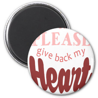 Christmas,Dear Santa, Please Give Back My Heart Magnet