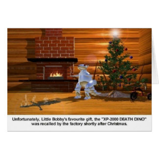 Christmas: Death Dino vaporizes child Greeting Card