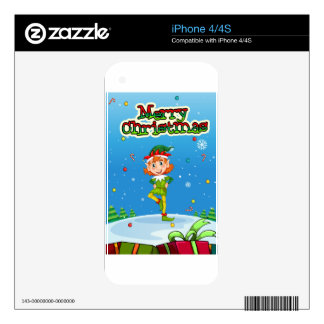Christmas Decals For The iPhone 4
