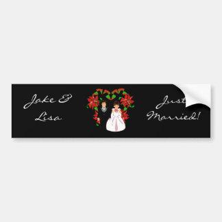 Christmas/December Just Married II Bumper Sticker Bumper Stickers