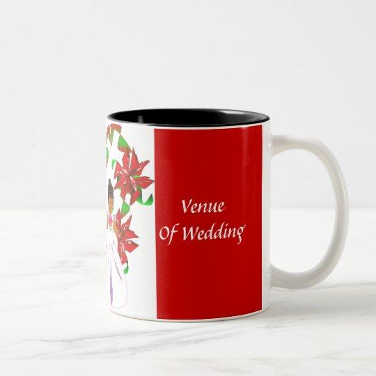 Christmas/December Red Wedding Shower Mug