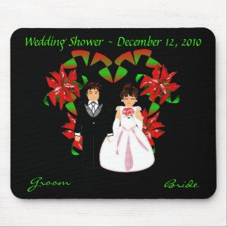 Christmas/December Wedding Shower I Mousepad