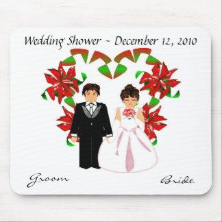 Christmas/December Wedding Shower Mousepad