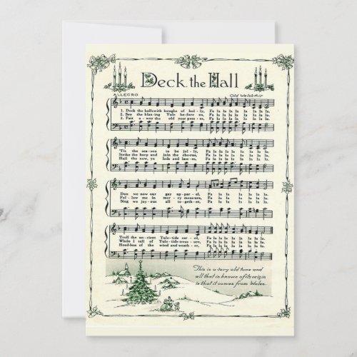 Christmas, Deck the Hall Vintage Sheet Music
