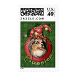 Christmas - Deck the Halls - Aussie - Gustine Stamp
