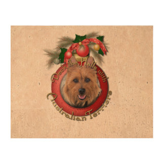 Christmas - Deck the Halls - Australian Terriers Queork Photo Prints
