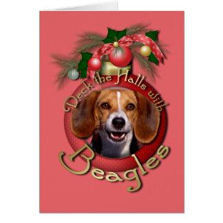 Christmas - Deck the Halls - Beagles Card