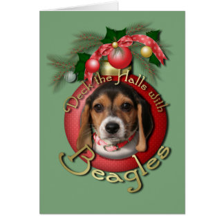 Christmas - Deck the Halls - Beagles Cards