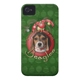 Christmas - Deck the Halls - Beagles iPhone 4 Cover
