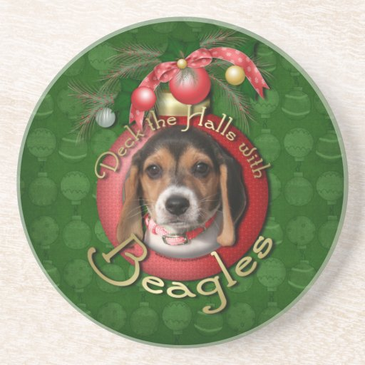 Christmas - Deck the Halls - Beagles Coaster