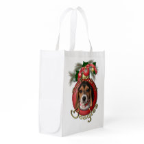 Christmas - Deck the Halls - Beagles Grocery Bag
