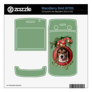 Christmas - Deck the Halls - Beagles Skins For BlackBerry Bold