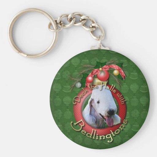 Christmas - Deck the Halls - Bedlingtons Key Chain