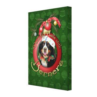Christmas - Deck the Halls - Berners Canvas Print