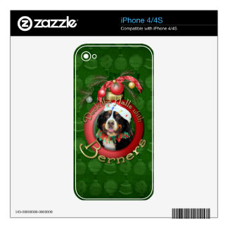 Christmas - Deck the Halls - Berners Decals For iPhone 4