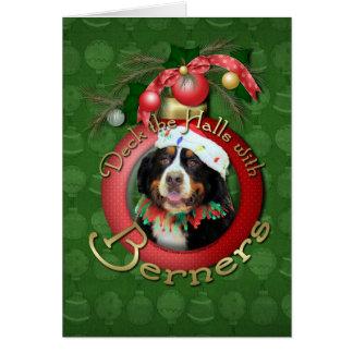Christmas - Deck the Halls - Berners Greeting Card
