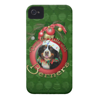 Christmas - Deck the Halls - Berners iPhone 4 Case