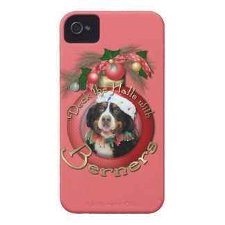 Christmas - Deck the Halls - Berners iPhone 4 Case-Mate Case