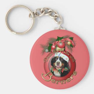Christmas - Deck the Halls - Berners Keychain
