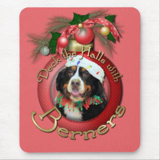 Christmas - Deck the Halls - Berners Mouse Pad