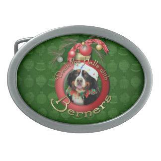 Christmas - Deck the Halls - Berners Oval Belt Buckle