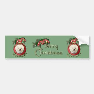 Christmas - Deck the Halls - Bichons Bumper Sticker