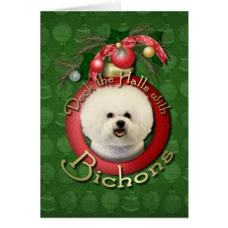 Christmas - Deck the Halls - Bichons Card