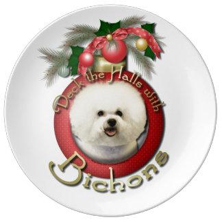 Christmas - Deck the Halls - Bichons Porcelain Plates