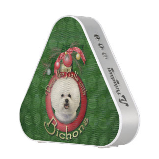 Christmas - Deck the Halls - Bichons Bluetooth Speaker