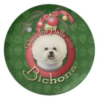 Christmas - Deck the Halls - Bichons Party Plates