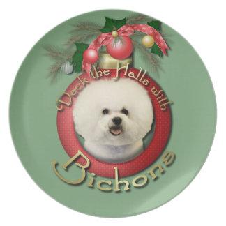 Christmas - Deck the Halls - Bichons Dinner Plates