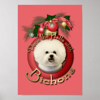 Christmas - Deck the Halls - Bichons Poster