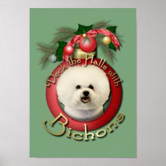 Christmas - Deck the Halls - Bichons Print