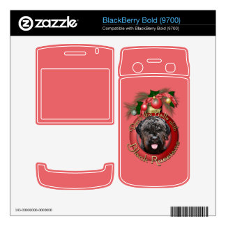 Christmas - Deck the Halls - Black Russian Terrier BlackBerry Bold Decal