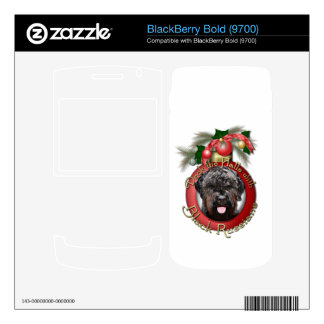 Christmas - Deck the Halls - Black Russian Terrier Skins For BlackBerry