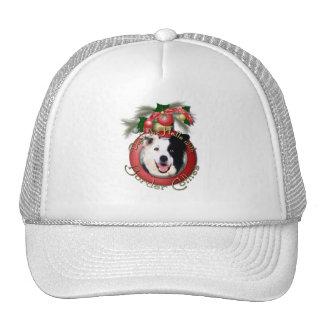 Christmas - Deck the Halls - Border Collies Mesh Hat