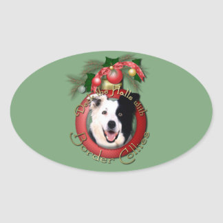 Christmas - Deck the Halls - Border Collies Stickers