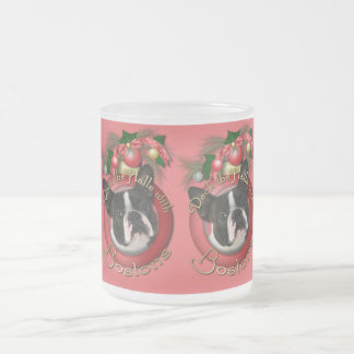 Christmas - Deck the Halls - Bostons Frosted Glass Coffee Mug