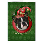Christmas - Deck the Halls - Bostons Greeting Card