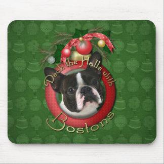 Christmas - Deck the Halls - Bostons Mouse Pad
